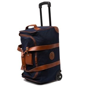 Peter Millar Crown Canvas and Leather Roller Bag